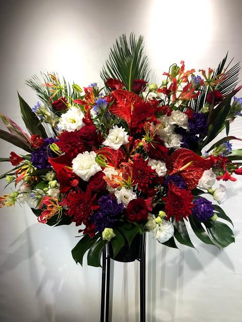 大輪の花でMIXスタンド花 1段